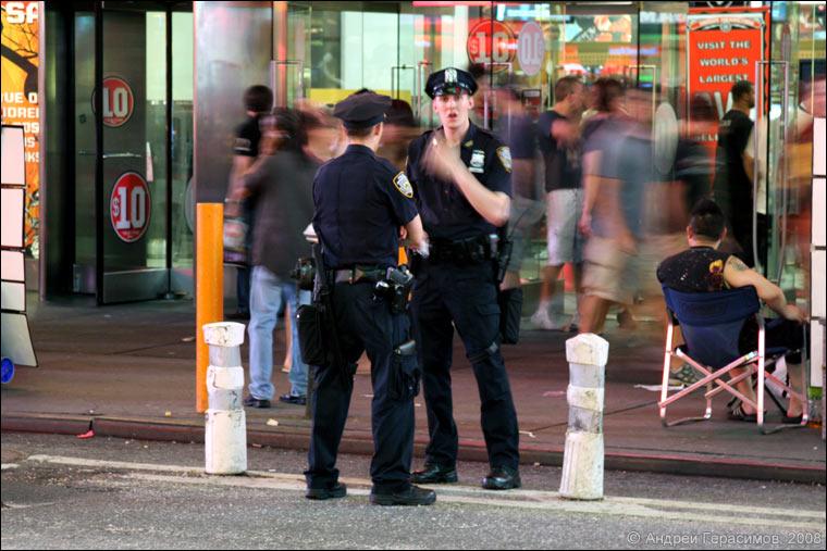 Полицейские на Таймс-сквер